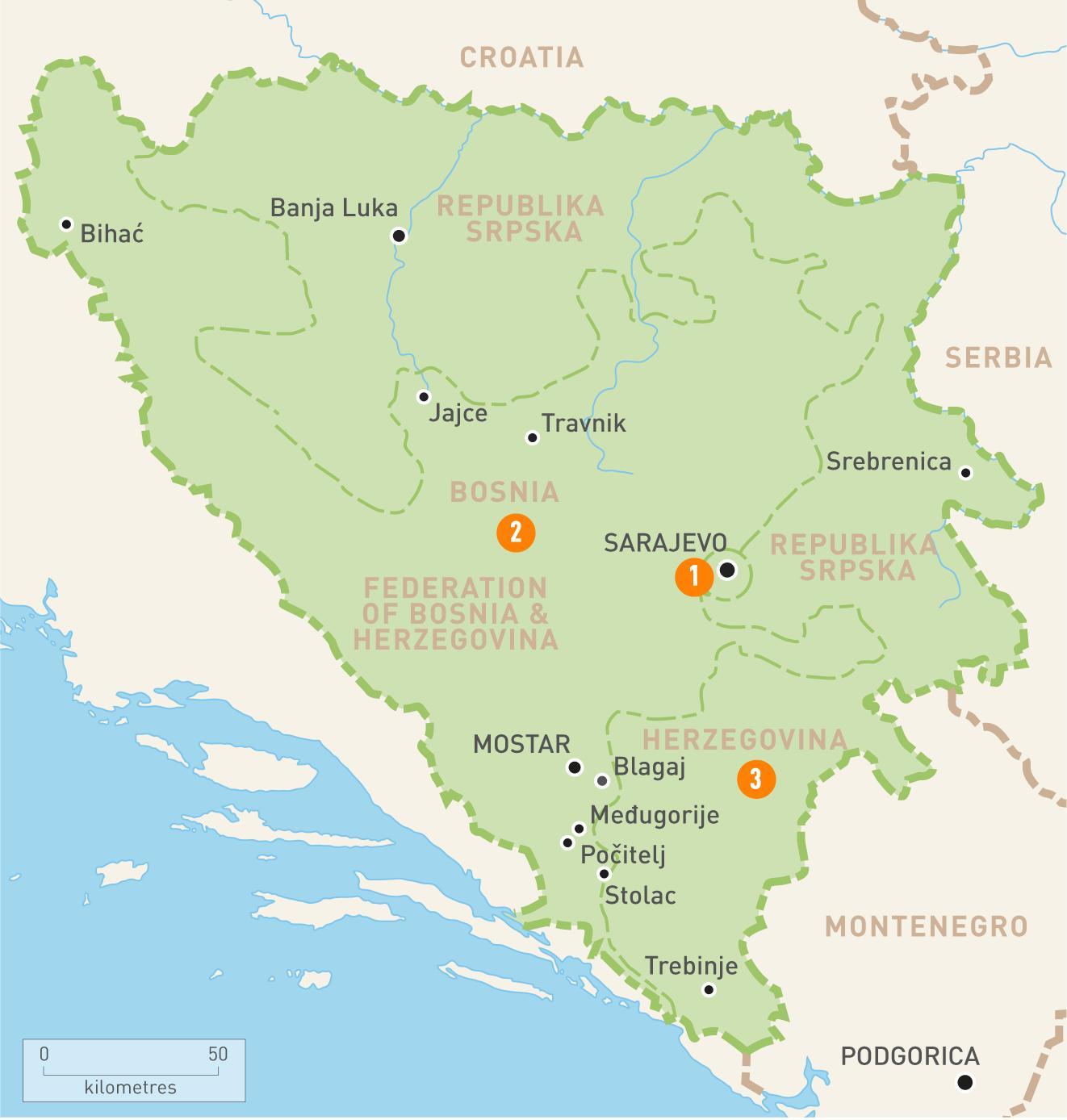 Sarajevo Bosnien Map Karte Von Sarajevo Bosnien Europa Sud