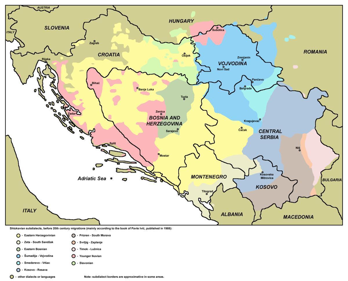 Hac Bosnien Map Karte Von Hac Bosnien Europa Sud Europa